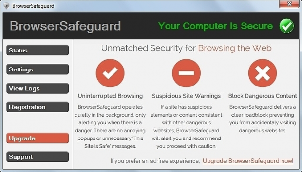 BrowserSafeguard skjermbilde
