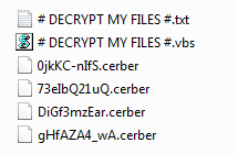 Cerber:  #  Decrypt  My  Files  #  fjerning  av  virus  og  filgjenoppretting